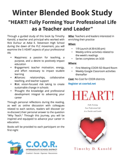 HEART Book Study Flyer image. Book Cover, COOR Logo