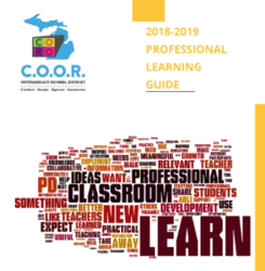 2018-2019 Professional Learning Guide cover