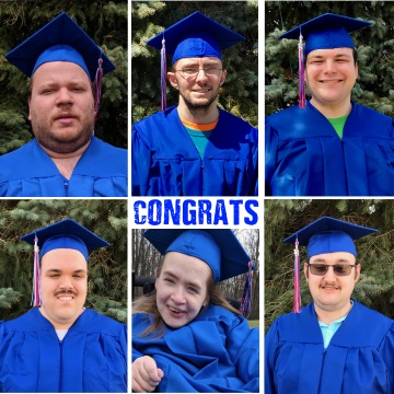 Congrats - portraits of six graduates