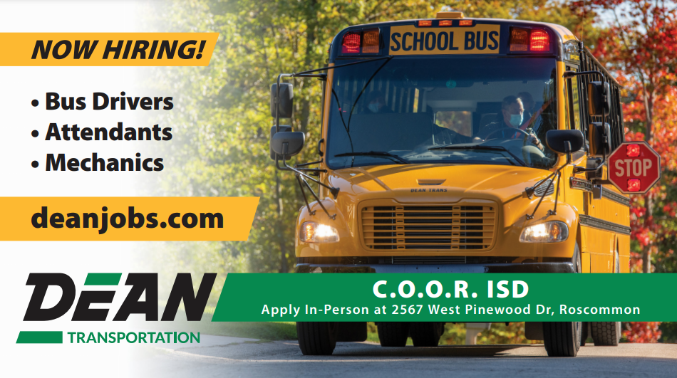 Dean Transportation is now hiring bus drivers, attendants, and mechanics
